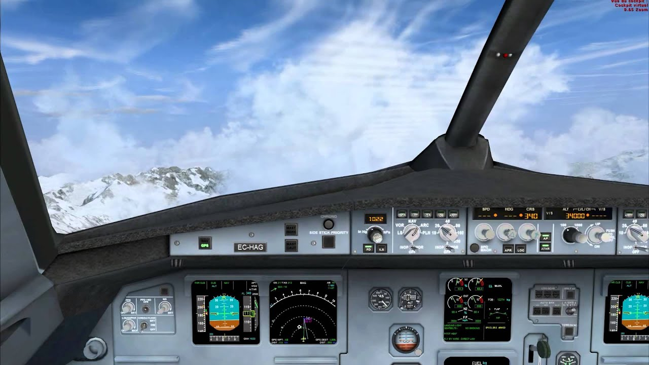 Project Airbus A320 with FD-FMC panel and gauges Available