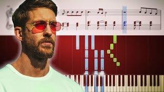 Calvin Harris, Dua Lipa - One Kiss - Piano Tutorial +SHEETS Video