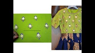 Aari / Hand Embroidery Coin / Kasu Work for Blouses / Tops - Step by Step Easy Way