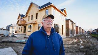 Visitando una Obra de un NUEVO BARRIO EN CONSTRUCCIÓN 🏘️ | ¿Cómo se Construyen las Casas en Canadá?