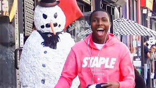 Angry Snowman Statue Prank Is Triflin