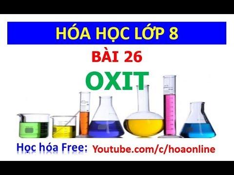 Hóa học 8 – Bài 26 – Oxit