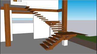 Curso de Maquete Eletrônica com SketchUp - Aula 14/50 Escada - Autocriativo