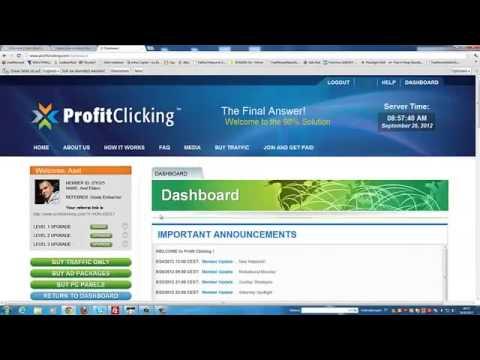 Im Internet Geld verdienen mit ProfitClicking auf Deutsch