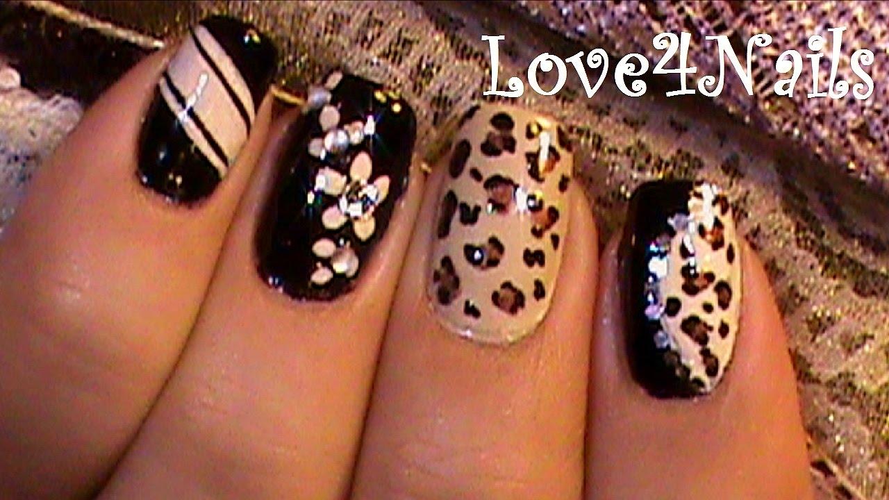 Decoracion De Uñas Leopardo Youtube