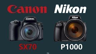 Canon PowerShot SX70 HS vs Nikon Coolpix P1000