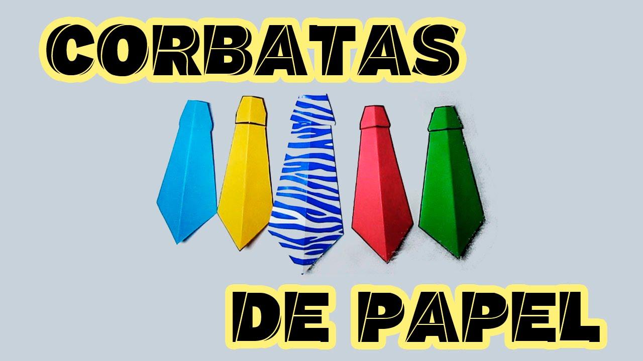CORBATA DE PAPEL ORIGAMI (Fácil) - YouTube