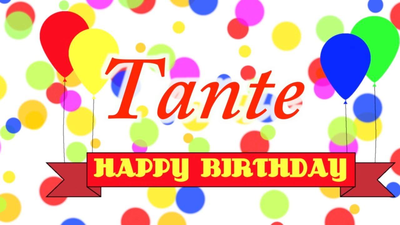 Happy Birthday Tante Song Youtube
