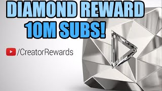 new youtube diamond play button 10 million subscribers special reward diamond