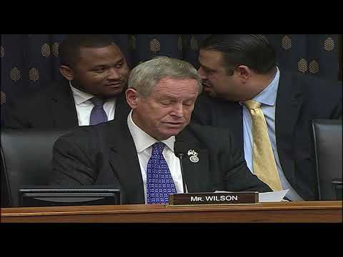11.14.2017 Rep. Joe Wilson House Foreign Affairs Committee H.R. 3542
