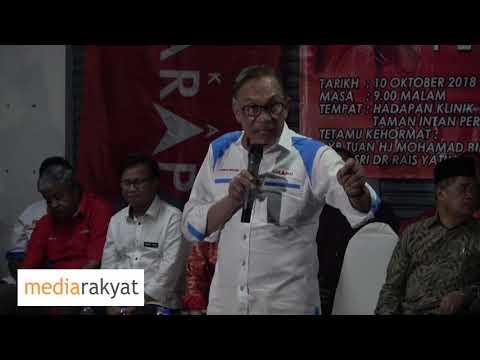 (10/10/2018) Anwar Ibrahim: Ceramah Bersama Rakyat Di Port Dickson