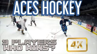 Ep# 13 Aces Hockey - 9 Players vs A Skater Playing Goalie. Who Wins? l GoProHockey (4K)