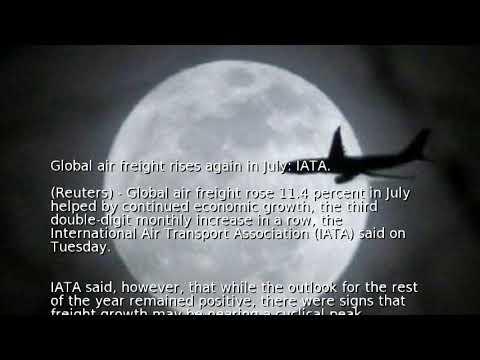 Global air freight rises again in July: IATA