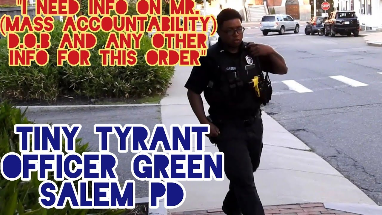 Tiny Tyrant Officer Green At It Again. Trespass Order Fail. Deprivation Of Rights US Code 18 Sec 242