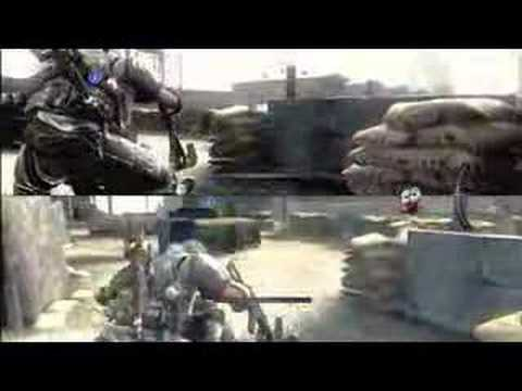 army of two split screen co op gameplay youtube. Black Bedroom Furniture Sets. Home Design Ideas