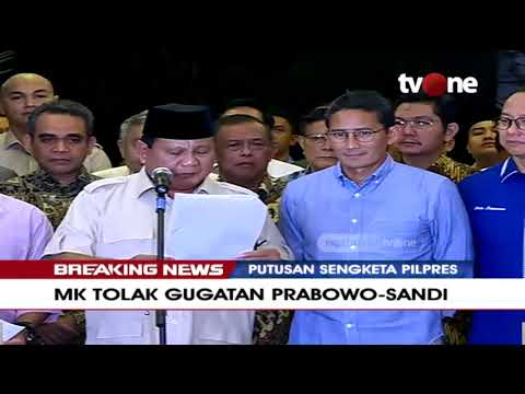 Konferensi Pers Prabowo-Sandi,