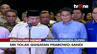 Gambar cover Konferensi Pers Prabowo-Sandi, Tanggapi Keputusan MK