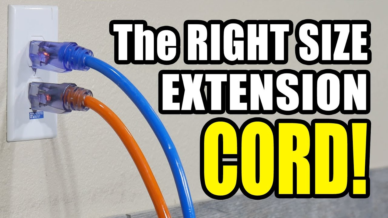 Extension Cord Size Chart Understanding Wire Gauge And Amps Youtube
