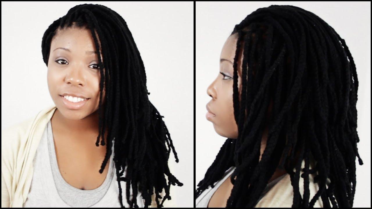 Yarn Braids Hairstyles: Yarn Braid Styles START TO FINISH In 3 Minutes!!!