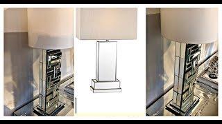 DIY | Dollar Store | Designer Inspired | CHEAP Mirrored Lamp😍 - Home Decor!!