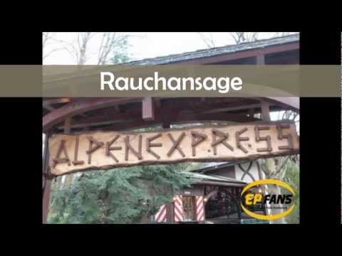 "Rauchansage Alpenexpress ""Enzian"" - Europa-Park"