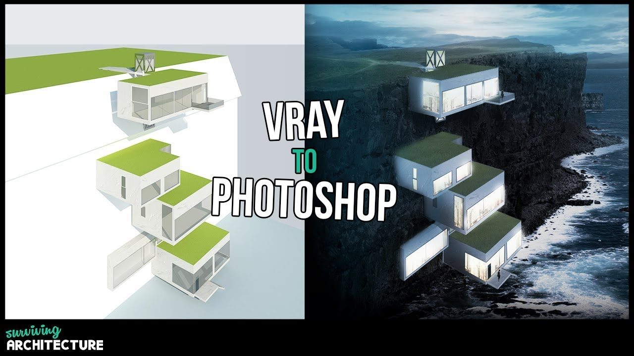 Architektur Rendering 3d Render | Visualizing Architecture In Adobe Photoshop - Youtube