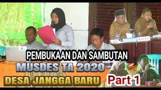 Pembukaan Dan Sambutan Musdes Ta 2020 Desa Jangga Baru Part1