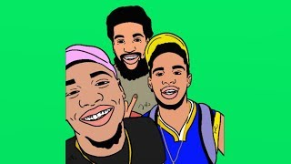 Armon and Trey and Chris from Chris and Queen Cartoon