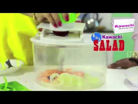 4-in-1 Salad Spinner Set with Mandoline Slicer and Storage Lid