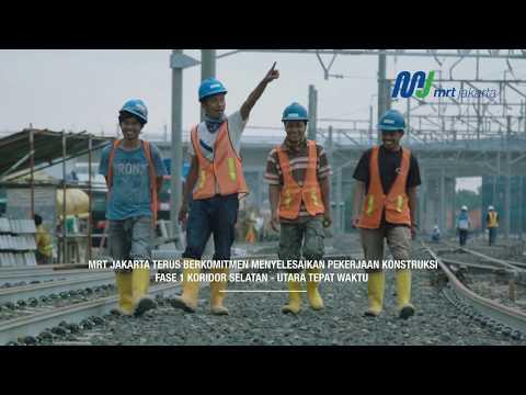 Kemajuan Proyek MRT Jakarta per 28 Februari 2018