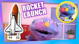 Nova Knows How to Count Down a Rocket Ship launch | Kids Learn to Count and Spell