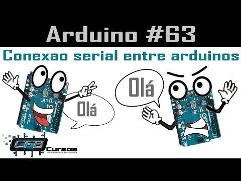 Conexão Serial Entre Dois Arduinos / TX RX - Curso De Arduino #63