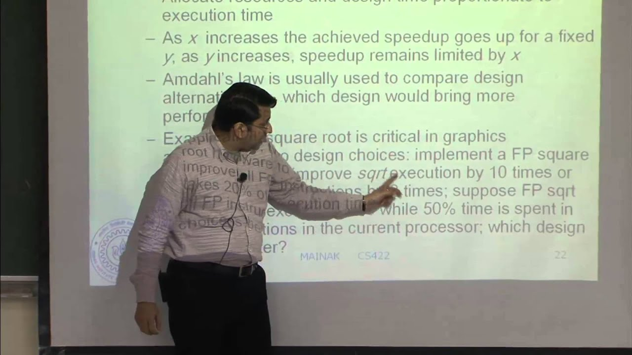 Mod-01 Lec-01 Introduction, Amdahl's law, CPI equation