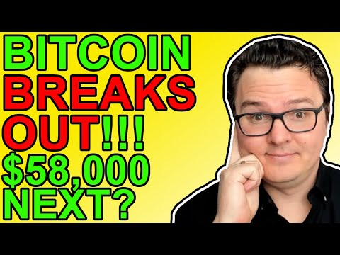 Bitcoin Breaking Out! BTC Price Target $58,000!