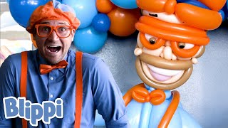 Blippi Visits the Balloosionist!   Learn About Rainbow Colors   Educational Videos for Toddlers