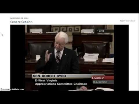 Homeland Security History ~ Senator Robert Byrd vs Joe Lieberman