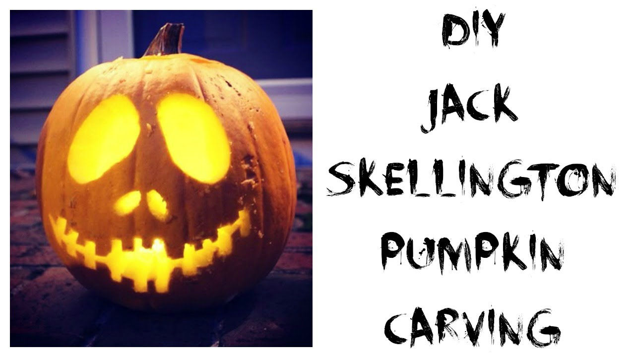 Diy jack skellington pumpkin carving allie young youtube