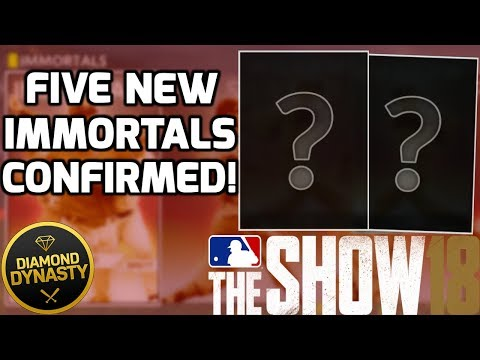 Five New Immortals Confirmed Releasing Soon! MLB The Show 18 Diamond Dynasty News Update