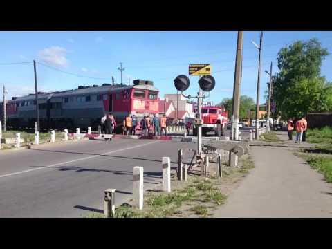 ДТП на Железнодорожном переезде в городе Великие Луки (см описание)