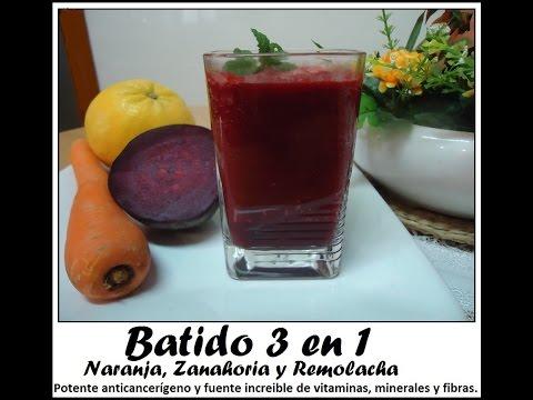 Batido 3 en 1 Potente anticancerígeno, fuente increible de vitaminas, minerales y fibras