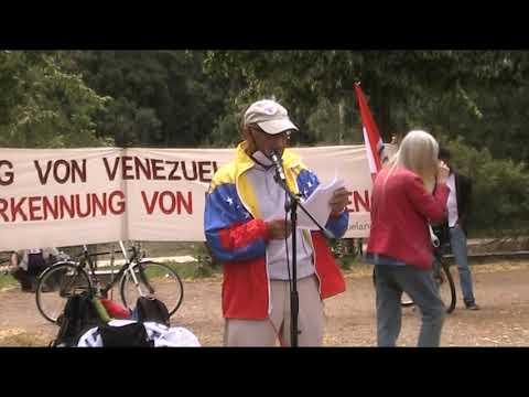 4. Juli 2020 Berlin #HaendeWegVonVenezuela - Rede Gerhard Mertschenk, Frente Unido America Latina