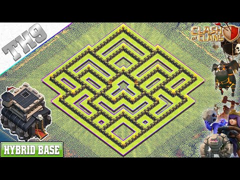 NEW BEST! TH9 Base With COPY LINK | TH9 Hybrid Base - Clash Of Clans