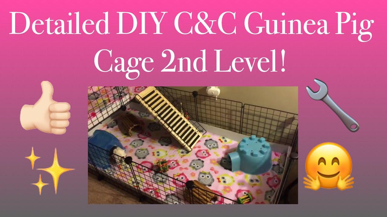 Detailed diy c c guinea pig cage 2nd level youtube for Diy c c guinea pig cage