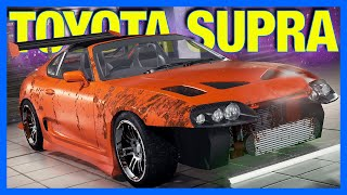 Repairing an Abandoned Toyota Supra in Car Mechanic Simulator