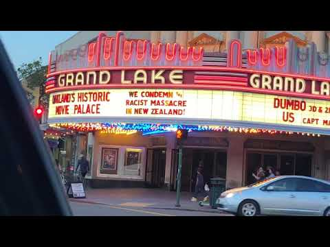 Grand Lake Theater Marquee Oakland Condemns New Zealand Shooting