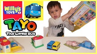 TAYO The Little Bus Shooting Garage Launcher TOY REVIEW and Aqua Animal Toothbrush Holder