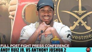 ANTHONY JOSHUA SPEAK'S ON RUIZ WIN IN DEPTH - FULL POST FIGHT PRESS CONFERENCE -RUIZ JOSHUA 2