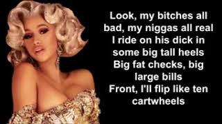 Money lyrics ft cardi b
