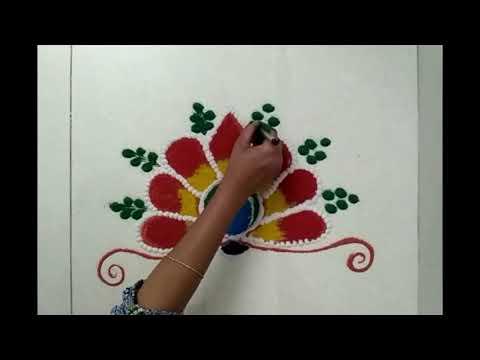 Free Hand ,Creative Rangoli design ..