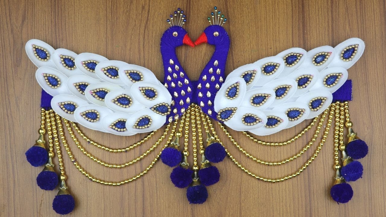 Amazing Peacock Design Door Hanging For Home Decor Waste Material Craft Idea Diy Arts And Crafts Youtube